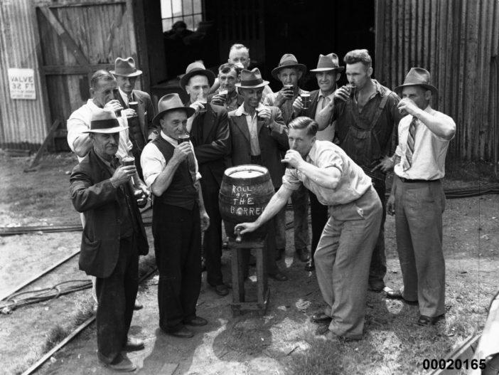 dockyard workers